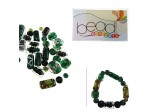 Do It Yourself Beading Kit, LampWork Green Mixed Beads
