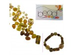 Do It Yourself Beading Kit, LampWork Yellow Mixed Beads