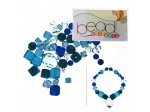 Do It Yourself Beading Kit, Czech Crystal Aqua Mixed Beads
