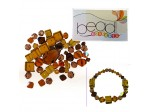 Do It Yourself Beading Kit, Czech Crystal Brown Mixed Beads