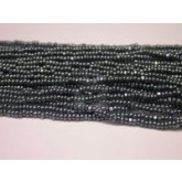 Czech Seed Bead Charlotte Cut, Olive Hematite, 12/0 Loose