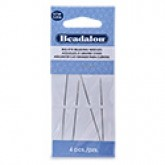 Big Eye Beading Needles, 2.25 in (12.7 cm), 4 pc