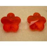 Crystal Flower Bright Red P1/2