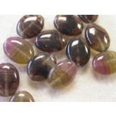 Czech Pressed Seaglass Bead Mix,  Lentil Clear Amethyst