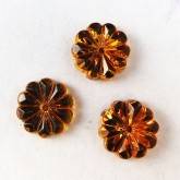 10mm Crystal Sew On Flower, Topaz