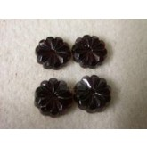 10mm Crystal Sew On Flower , Garnet