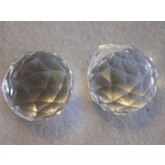 Czech Crystal 120 Faceted Ball 20mm Clear