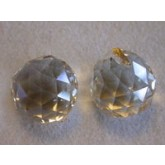 Czech Crystal 120 Faceted Ball 20mm Hint of topaz