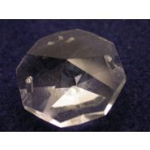 Octagon 2 hole pendant clear 24mm