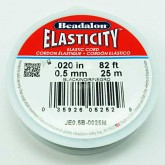 Elasticity, 0.5 mm (.020 in), Clear, 25 m (82 ft)