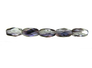 4mm Czech Fire Polish Beads Copper Lined Emerald Sold by the Half Mass